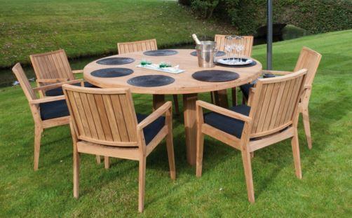 Le mobilier de jardin en teck qui donnera un look rustique à votre ...
