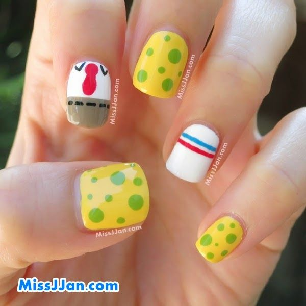 tutorial spongebob squarepants inspired nail art nail tutorial spongebob squarepants inspired nail art prinsesfo Image collections