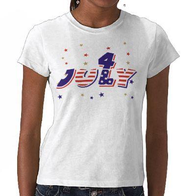 Stripes and stars Fourth of July text design T-shirts. $23.95 #FourthofJuly #tshirt