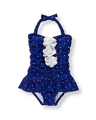 ccd18bda08c52 Janie & Jack Floral Dot Bathingsuit. Janie & Jack Floral Dot Bathingsuit  Baby Girl Swimsuit, Baby Swimming, Kids Swimwear,