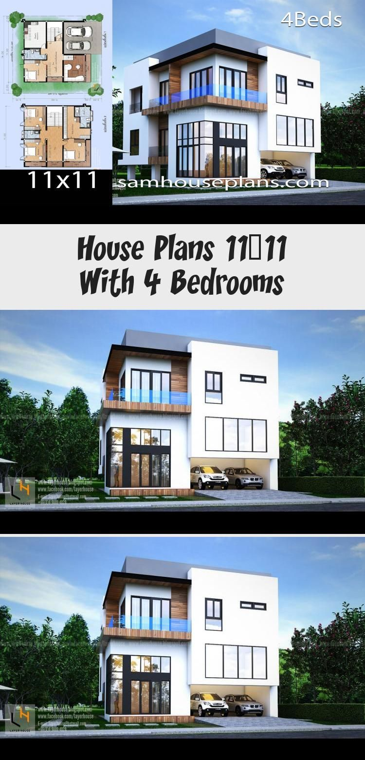 House Plans 11x11 With 4 Bedrooms Sam House Plans Floorplans4bedroomnarrow Floorplans4bedroomsouthernliving Floorpla In 2020 House Plans Modern Architecture House