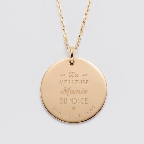333032c4b39e0 Collier médaillon à graver et pendentif amour - Jolie Demoiselle - Bijoux  femme | Bijoux | Pendant necklace, Jewelry et Pendants