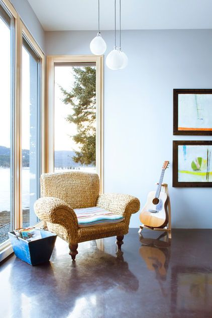backdrop, this home stands out for its abundant earth-friendly features too | contemporary living room by Mindful Designs, Inc.
