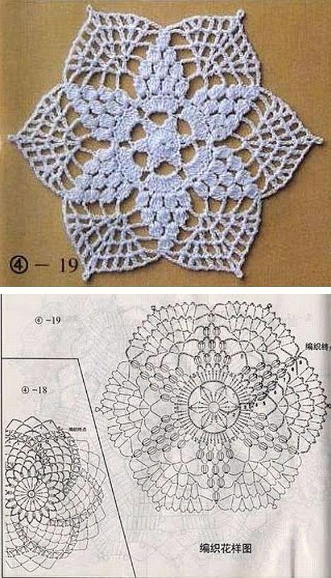 Tapete o carpeta en tejido crochet | Patrones de Crochet | Pinterest ...