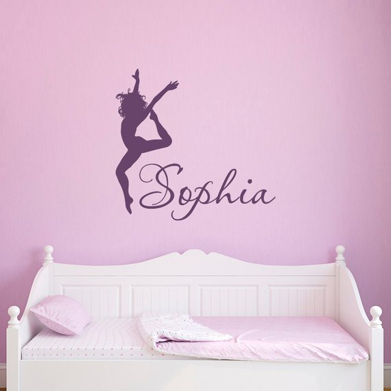 Dance Wall Decal Name Girls Personalized - Ballerina Wall ...