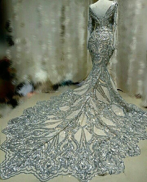 Wedding Gowns With Swarovski Crystals: Luxury Sequinned Swarovski Crystals Mermaid Couture Prom
