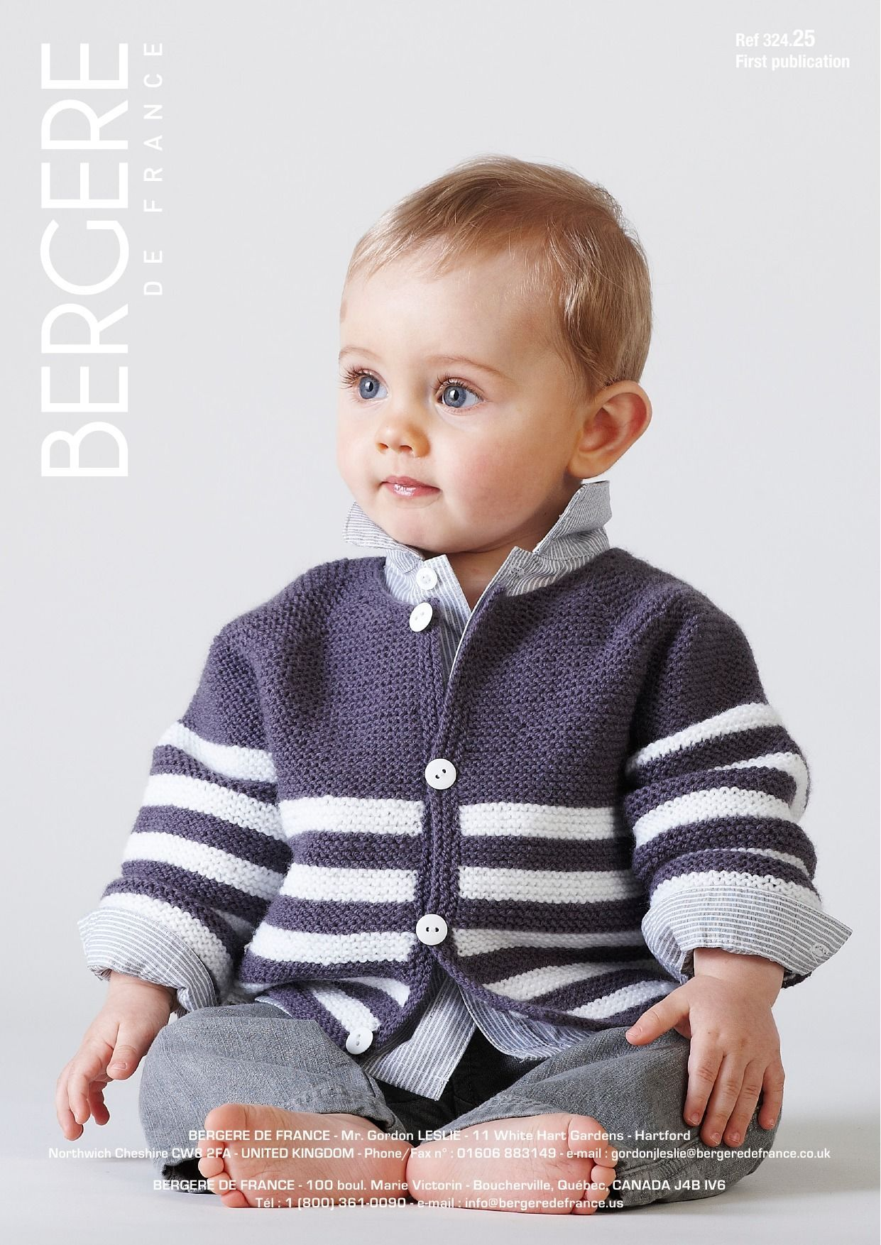 Striped Jacket in Bergere de France Caline. Discover more Patterns ...