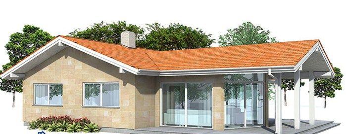 Fachadas de casas de una planta con techo a dos aguas for Fachadas de casas modernas gratis