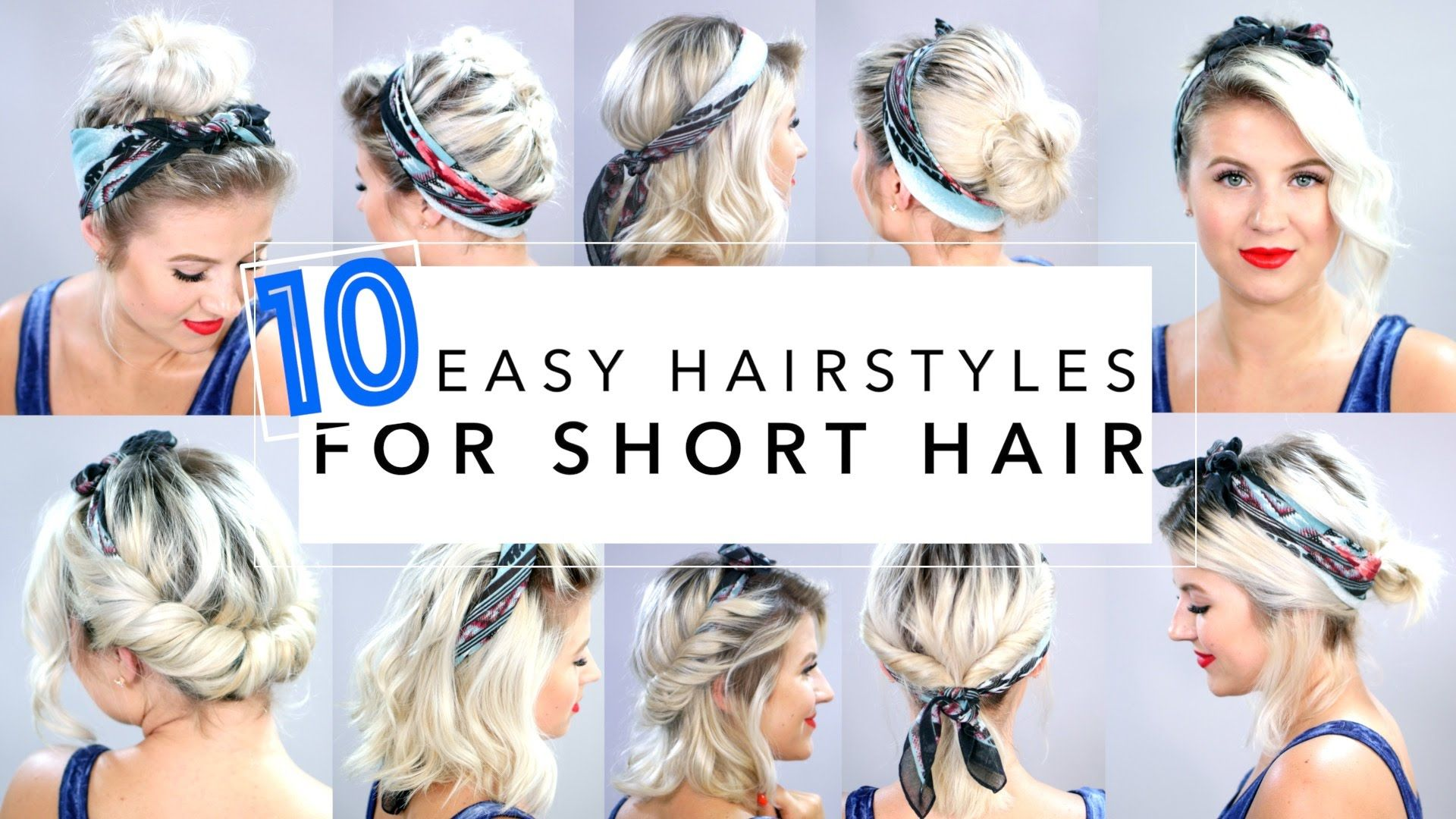 easy hairstyles for short hair with headband milabu