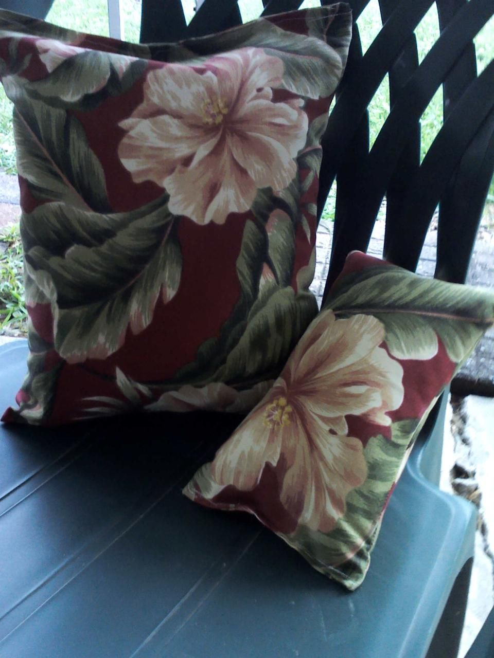Matching chair pillows for patio stuff to try pinterest