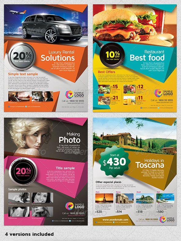 Multipurpose Business Flyer Template Vol01 Adverts Pinterest