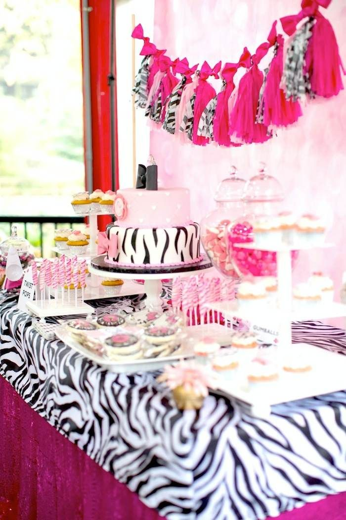 Hello Kitty Pink Zebra themed birthday party with Lots of Really