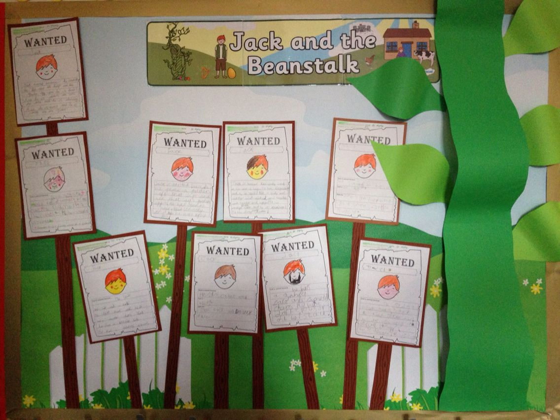 Jack And The Beanstalk Display For English Wanted Posters