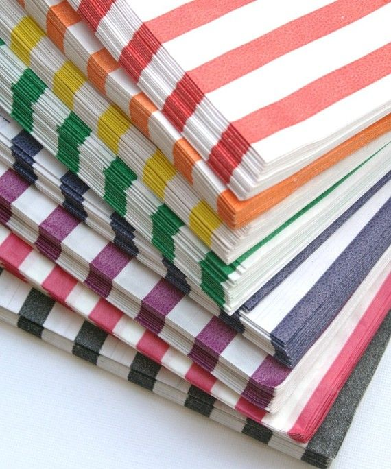 Items Similar To Set Of 50 Traditional Sweet Gray Candy Stripe Paper Bags 5 X 7 New Style On Etsy