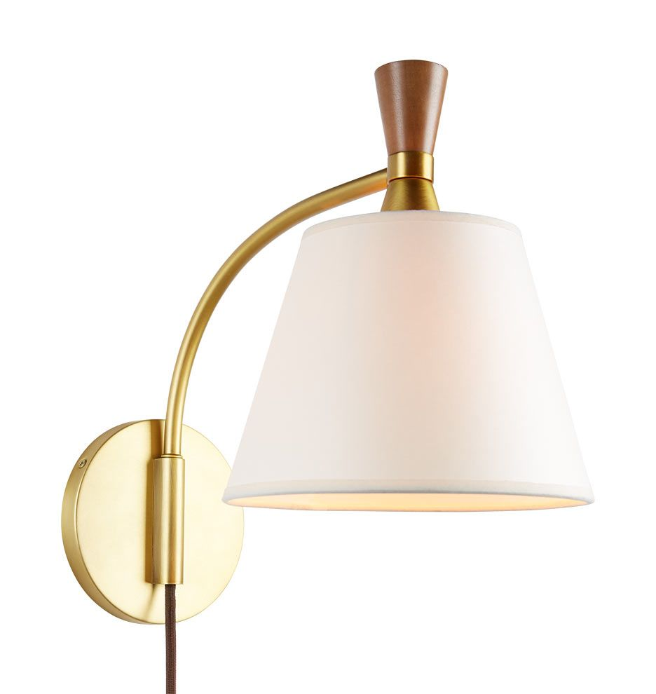 Mid-Century Wooden Sconce A7986. Rejuvenation | Wooden ...