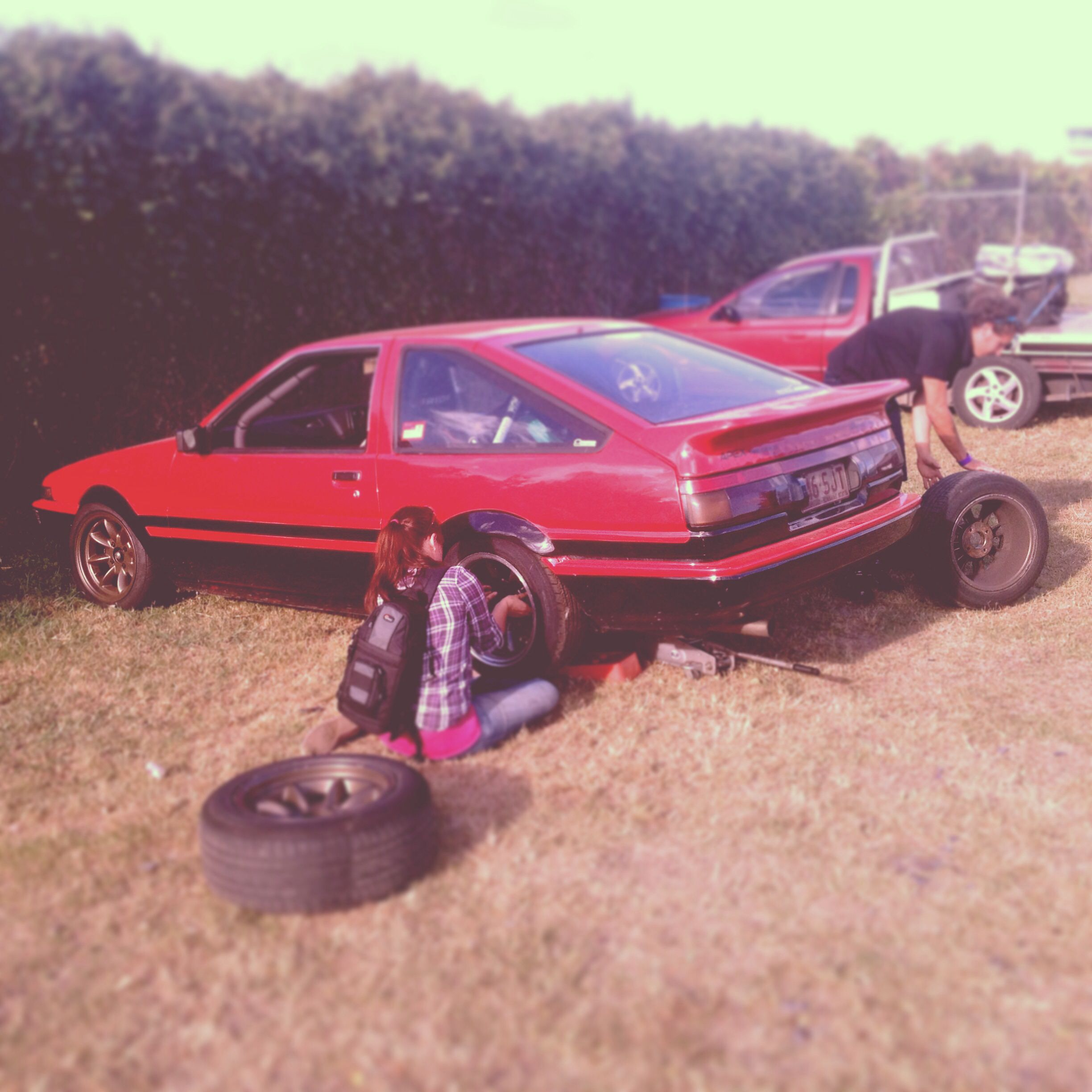 80s car toys  Slammed AE getting dressed for a track day  Awesome  Pinterest