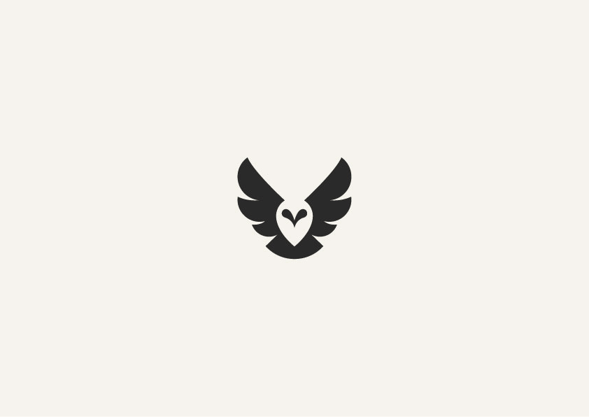 Simple Minimalist Owl Tattoo: Negative Space Graphics By George Bokhua