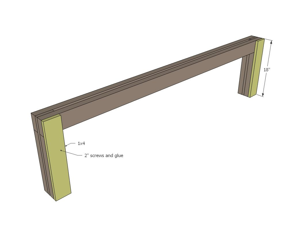 Ana White | Build a Modern Slat Top Outdoor Wood Bench | Free and ...