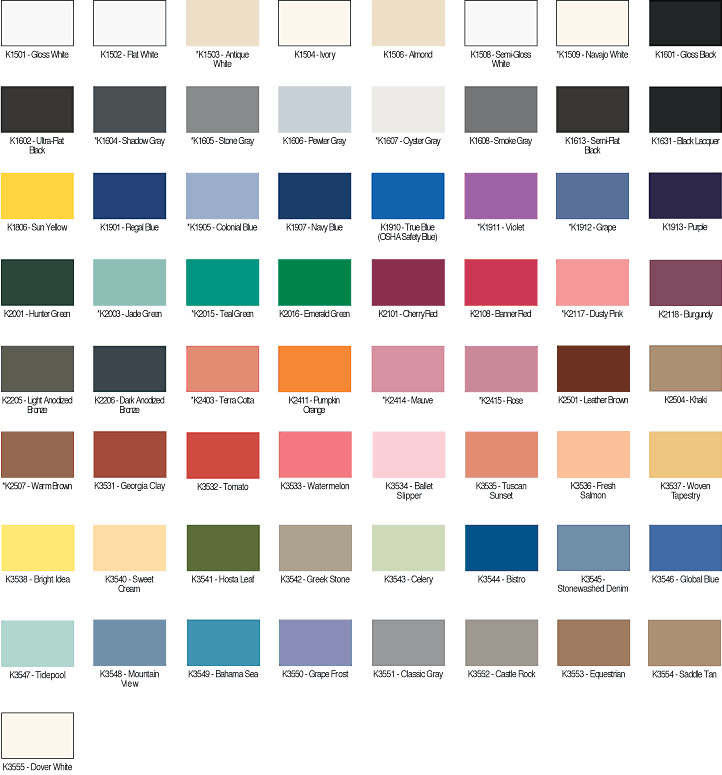 Luxury Interior Paint Color Chart
