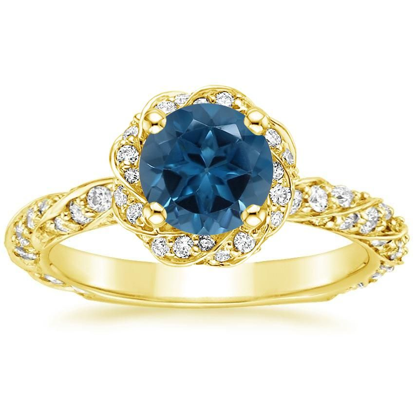 18k Yellow Gold Cordoba Diamond Ring 5 8 Ct Tw Sapphire Diamond Wedding Ring Natural Blue Sapphire Ring Wedding Ring Sizes