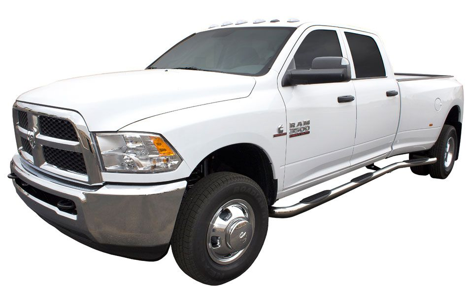 2010 2016 dodge ram 2500 3500 crew cab 4dr long bed dually nerf bars nerf bars side step. Black Bedroom Furniture Sets. Home Design Ideas