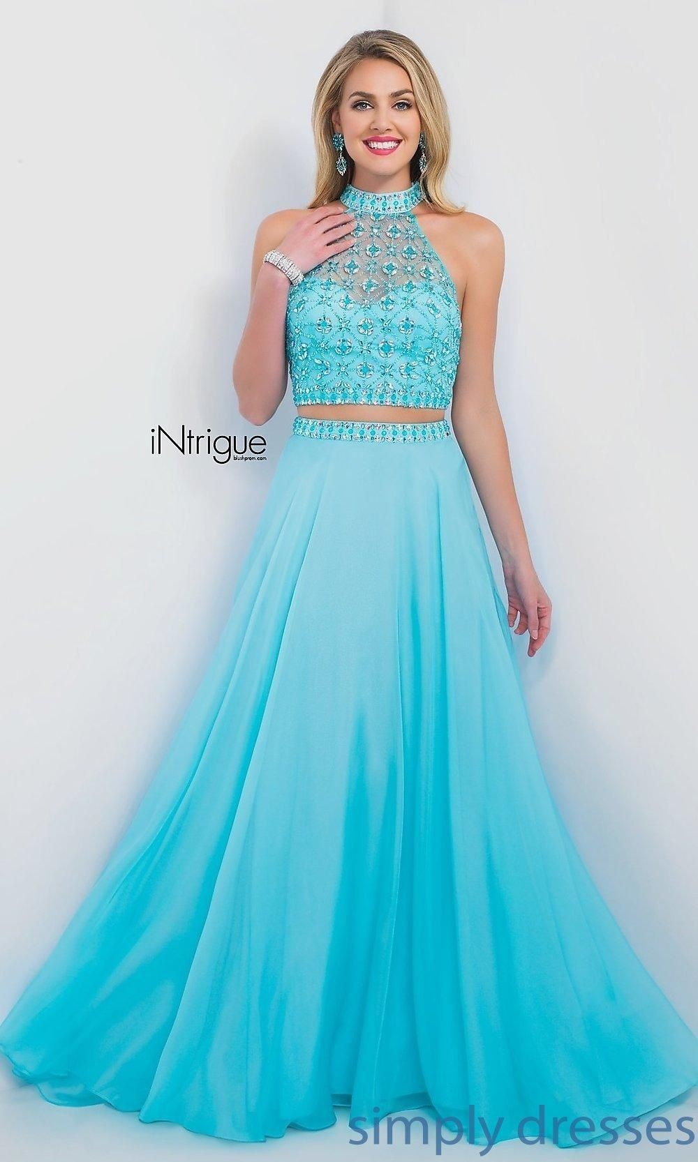 Turquoise Two Piece Intrigue by Blush Prom Dress - Brought to you ...