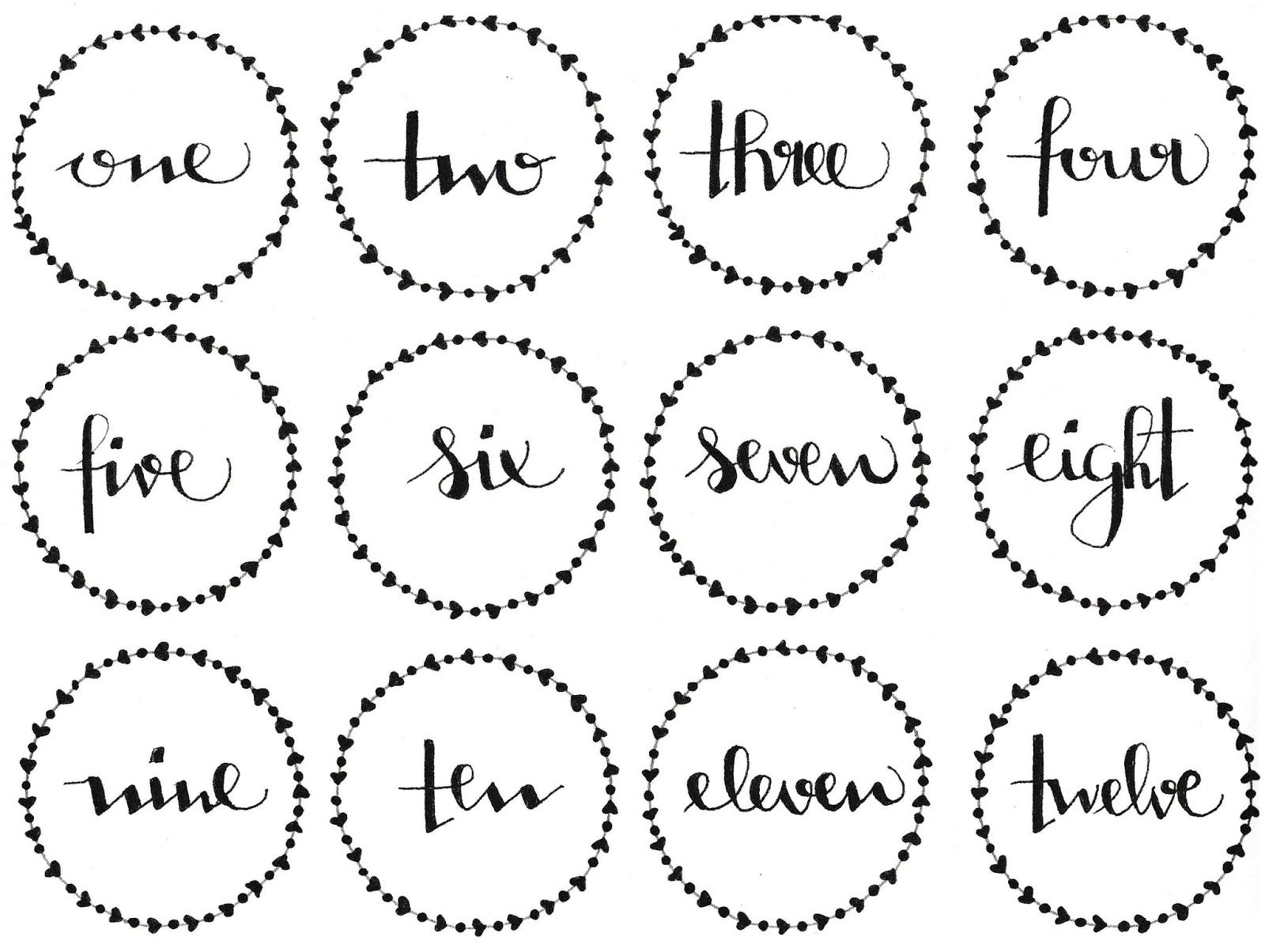 Image result for advent numbers printable | Printable ...