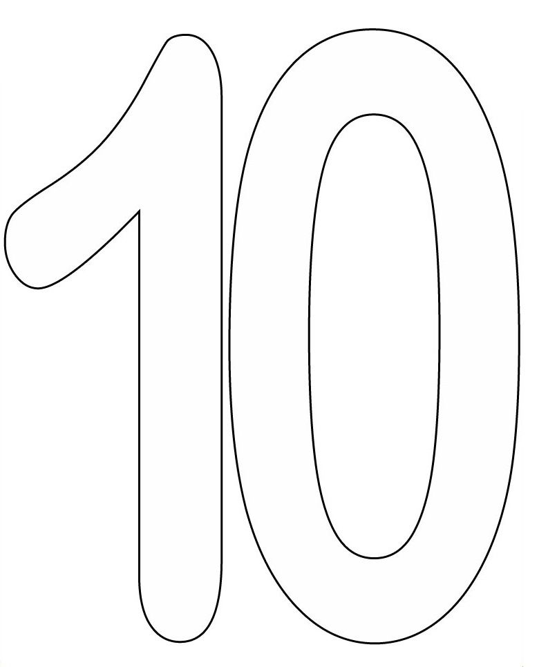 Coloring Pages Of Number 10 Numero Para Colorear