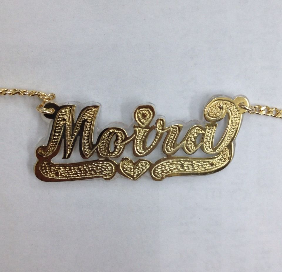 pendants plate nameplate chains name graffiti necklaces chain gold custom