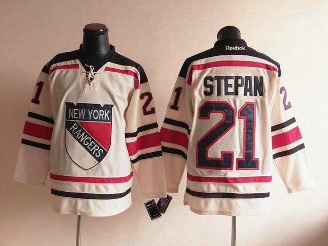 newest collection 78167 21c0c nhl jerseys new york rangers 21 derek stepan cream 2012 ...