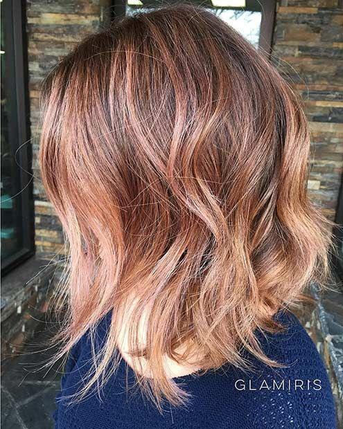 43 trendy rose gold hair color ideas les cheveux. Black Bedroom Furniture Sets. Home Design Ideas