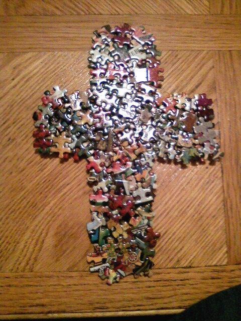 Puzzle Pieces Cross