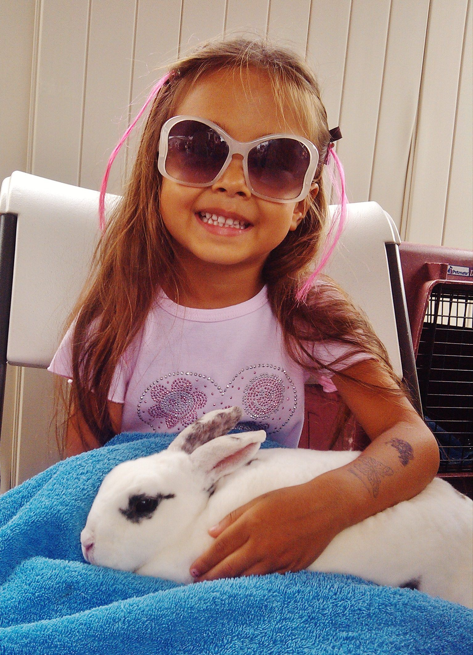 Kids and rabbits in our easter petting zoo haku baldwin