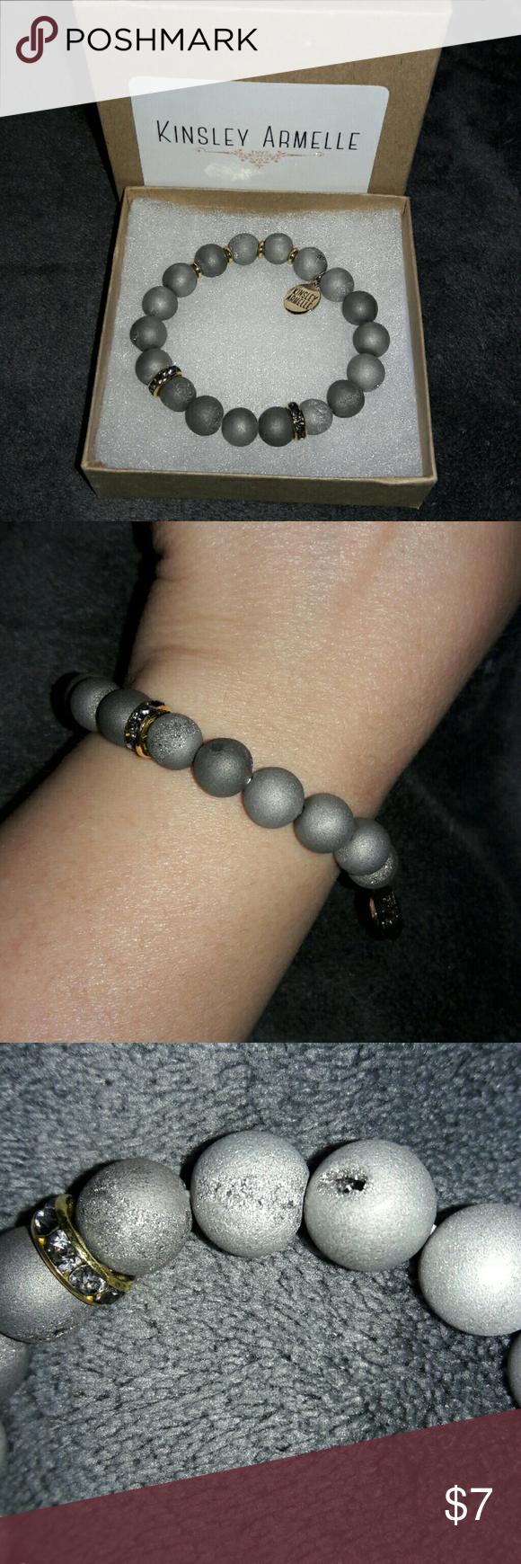 Kinsley armelle geode collection slate bracelet nwot never worn