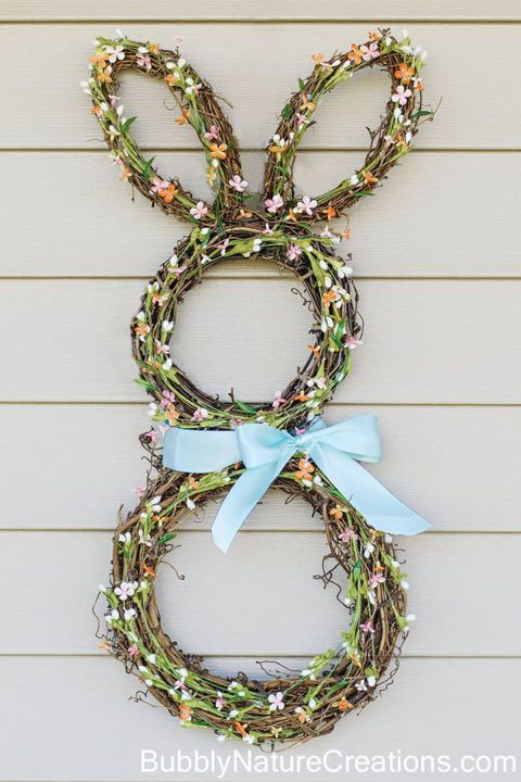 30 DIY Easter Decorations | Front doors, Bunny and Wreaths