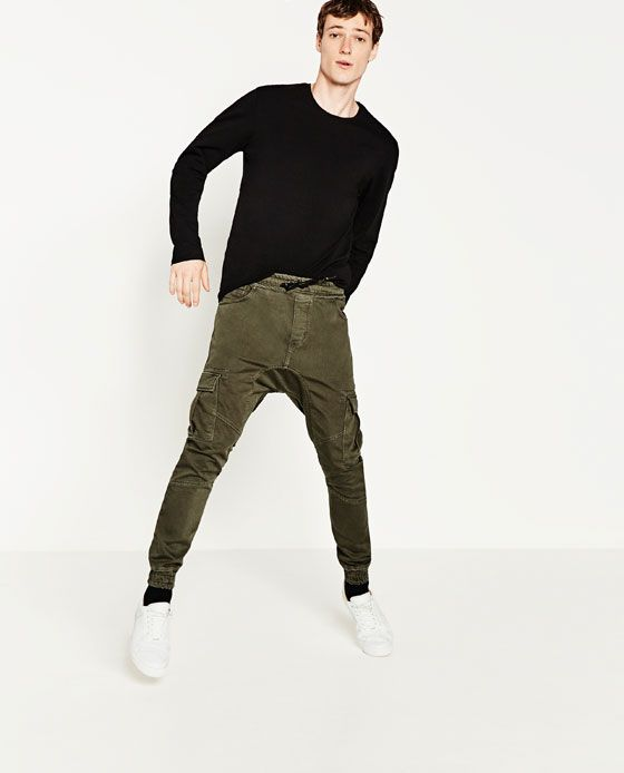 5e3a2be3 ZARA - MAN - CARGO TROUSERS | Ideas | Denim joggers, Trousers, Zara man