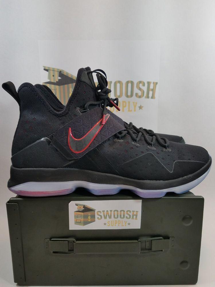 newest cb185 cce9b Nike LeBron XIV BRED Sz 8.5 Black Red Ice King James Basketball 852405-004   Nike  BasketballShoes