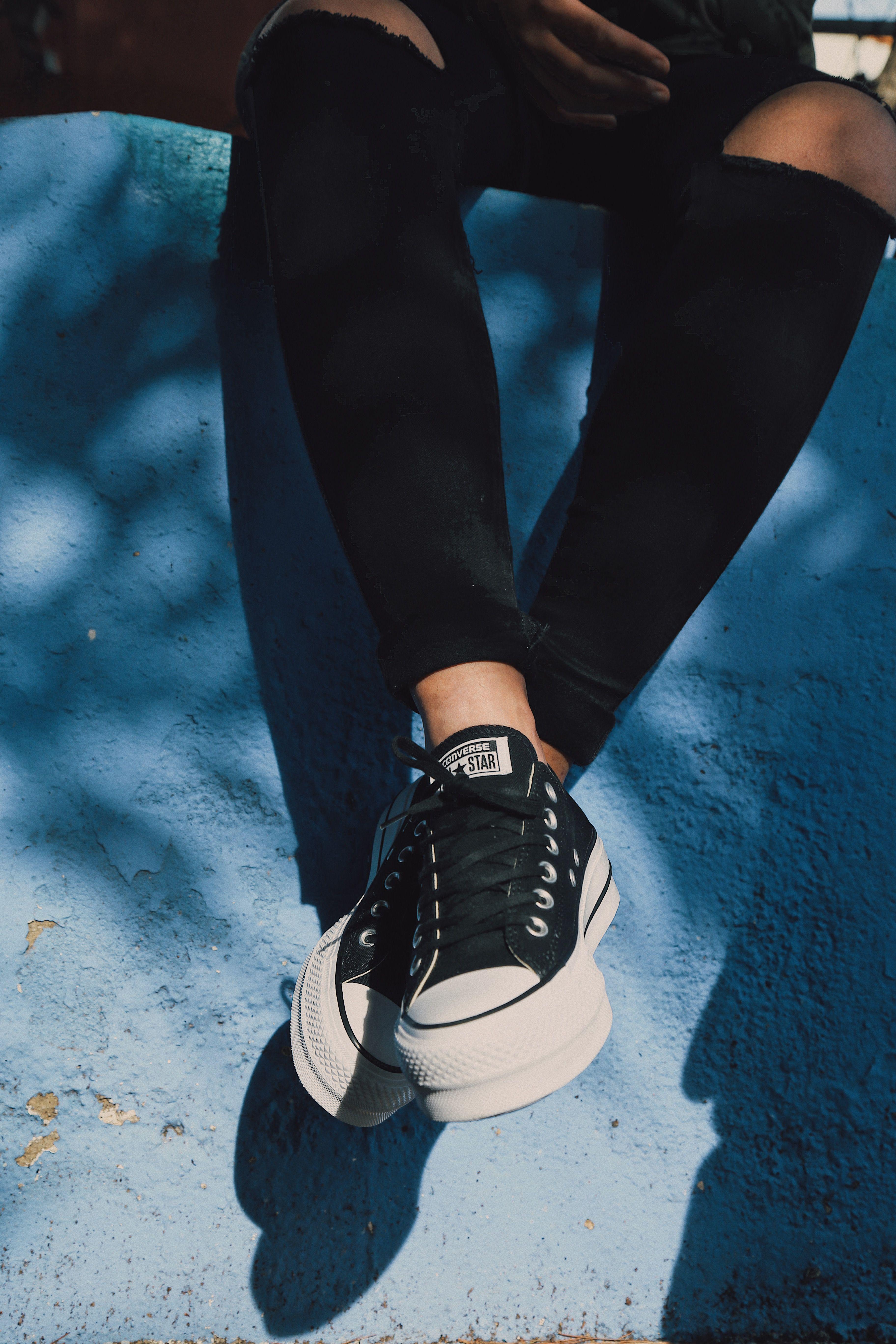 zapatillas converse plataforma mujer blancas