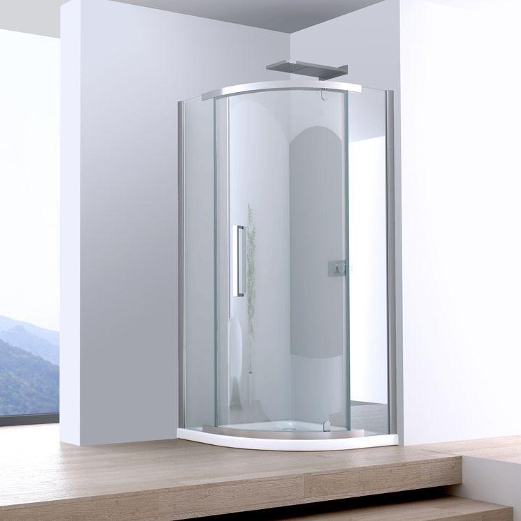 Box doccia semicircolare 80x80 anta a battente Box doccia