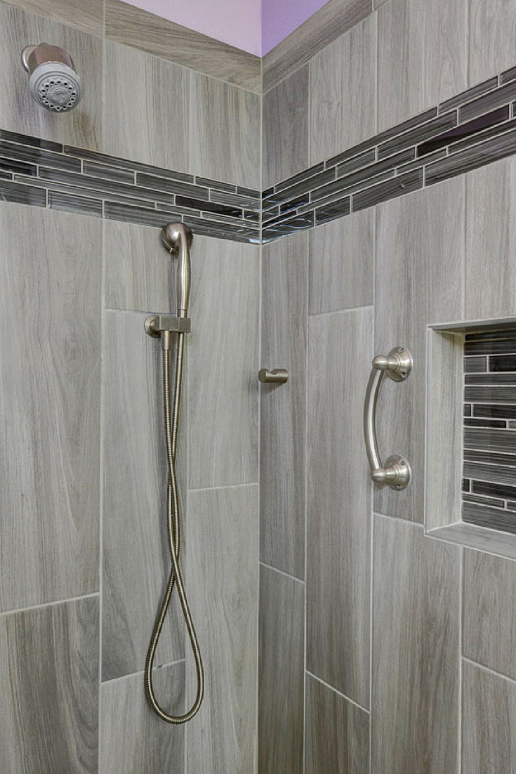 Grey Bathroom Wall Tile Ideas By Our Las Vegas Remodel And Construction  Team #bathroomremodel