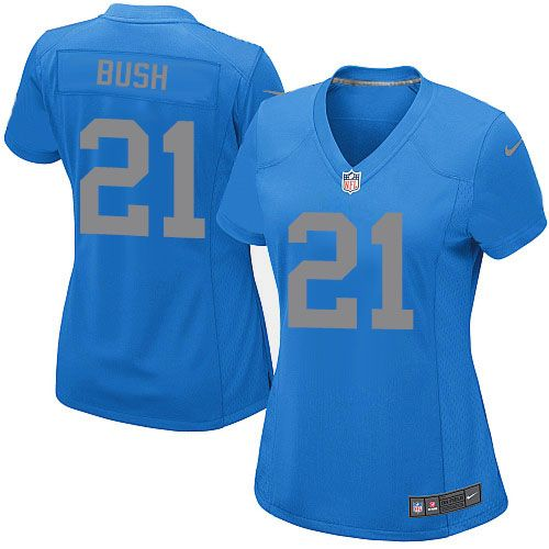 bb09896ff ... Elite Womens Nike Detroit Lions 21 Reggie Bush Blue Alternate NFL  Jersey ...