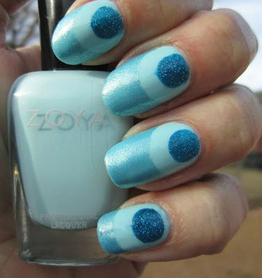 concrete and nail polish simple nail art with zoya blues