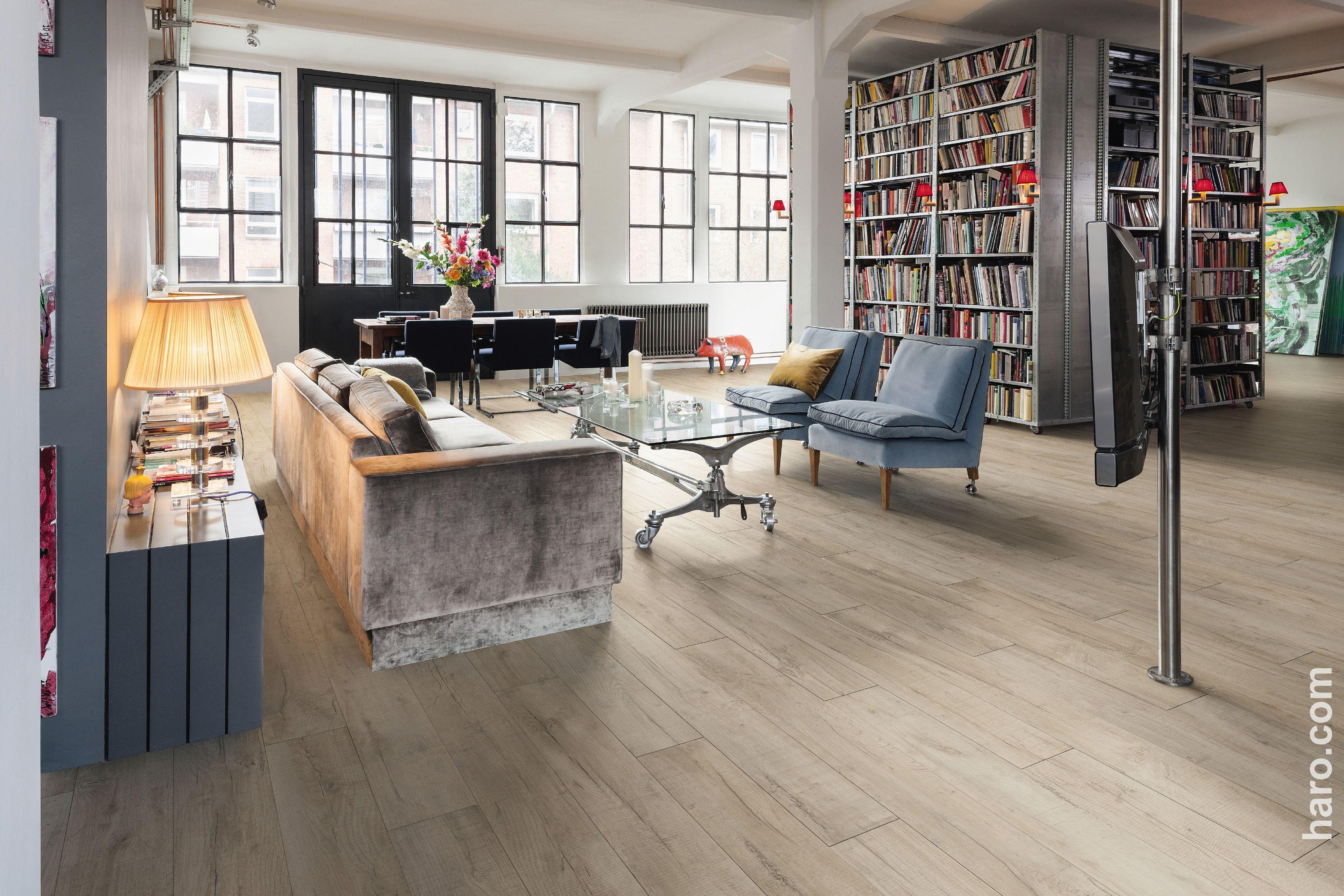 sympathischer retro look! unser laminatboden shabby oak liegt voll ... - Laminat Wohnzimmer Modern