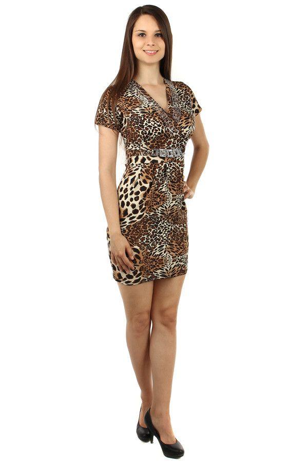 79e84de32f01 Dámské sexy tygrované šaty - koupit online na Glara.cz  letnisaty   damskesaty
