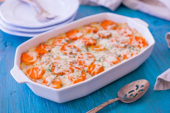 Cheesy Ham & Sweet Potato Casserole