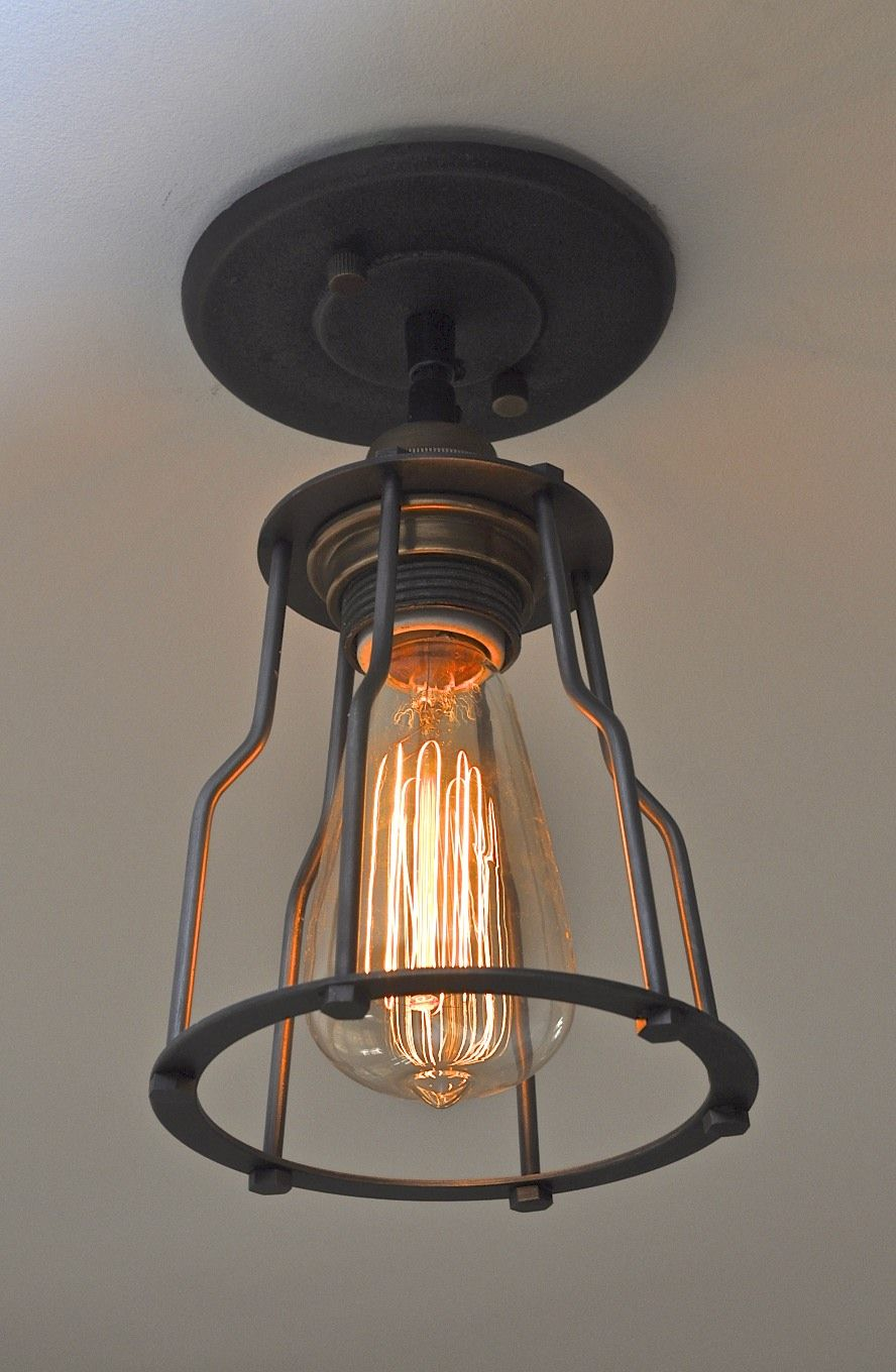 industrial chic lighting. Industrial Chic Lighting | To Compliment It, We Installed This Cool Style Cage Light W
