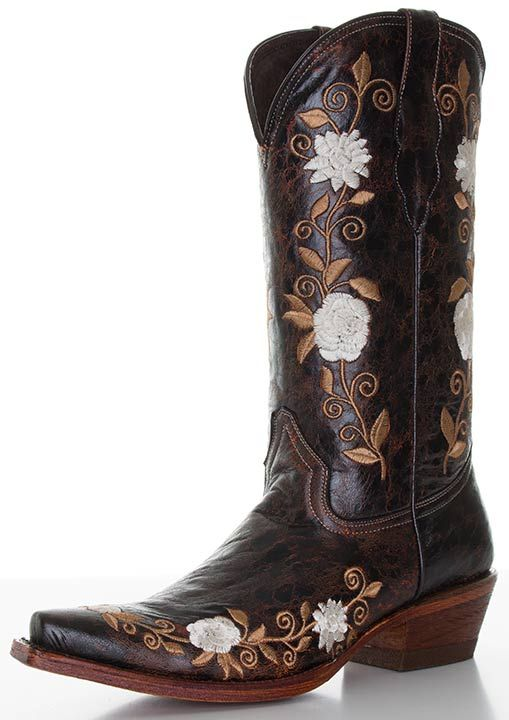Pecos Bill Floral Embroidery Boots Boots Brown Cowboy Boots Embroidery Boots
