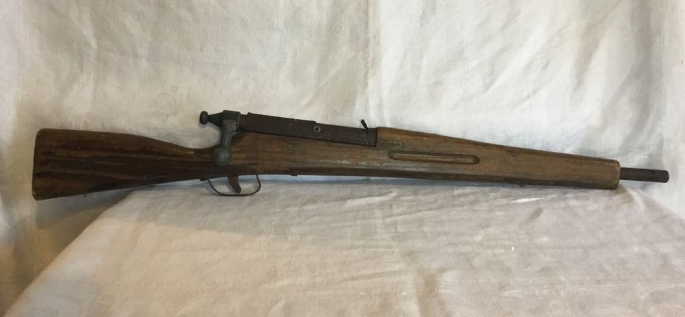 Vintage Child's Wooden Rifle Bolt Action Toy Gun  | eBay