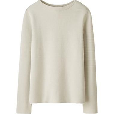 MEN LEMAIRE SUPIMA COTTON BOAT NECK SWEATER | tops / upper mood ...