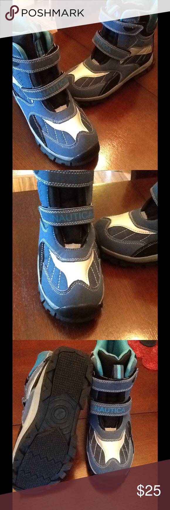 b7c090467 Big boy snow boots. Super warm, water resistant, in excellent condition,  blue snow boots by Nautica. Worn one time and then no more snow!